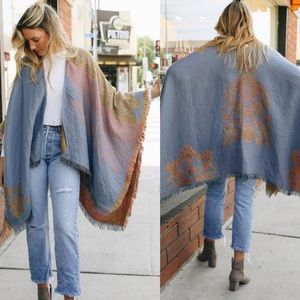 Accessories - Paisley Poncho Scarf Wrap